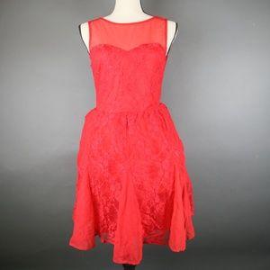 ASOS Red Lace Mini Dress Size 8